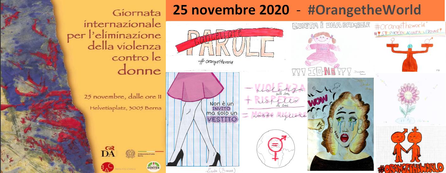 25 Novembre - #OrangetheWorld - Giornata Internazionale per l'Eliminazione della Violenza contro le Donne