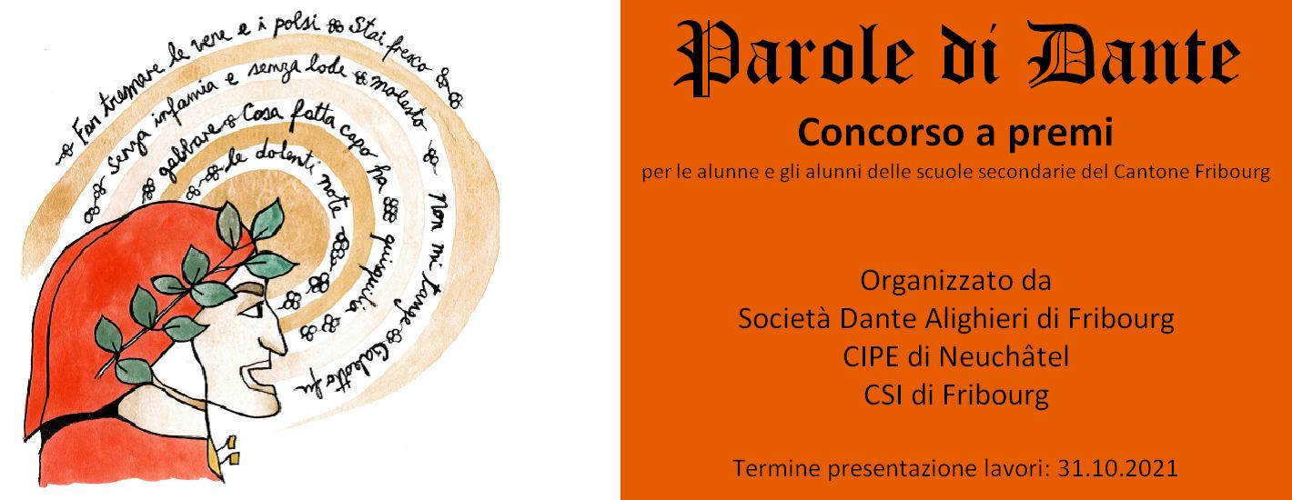 Concorso a premi a Fribourg: Parole di Dante